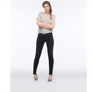 "AG ""The Absolute Legging"" black wash jeans"